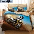 Fanaijia 3d комплект постельного белья  Королевский размер  дизайн мотоцикла  набор пододеяльников с принтом  наволочка  пододеяльник  лучший по...