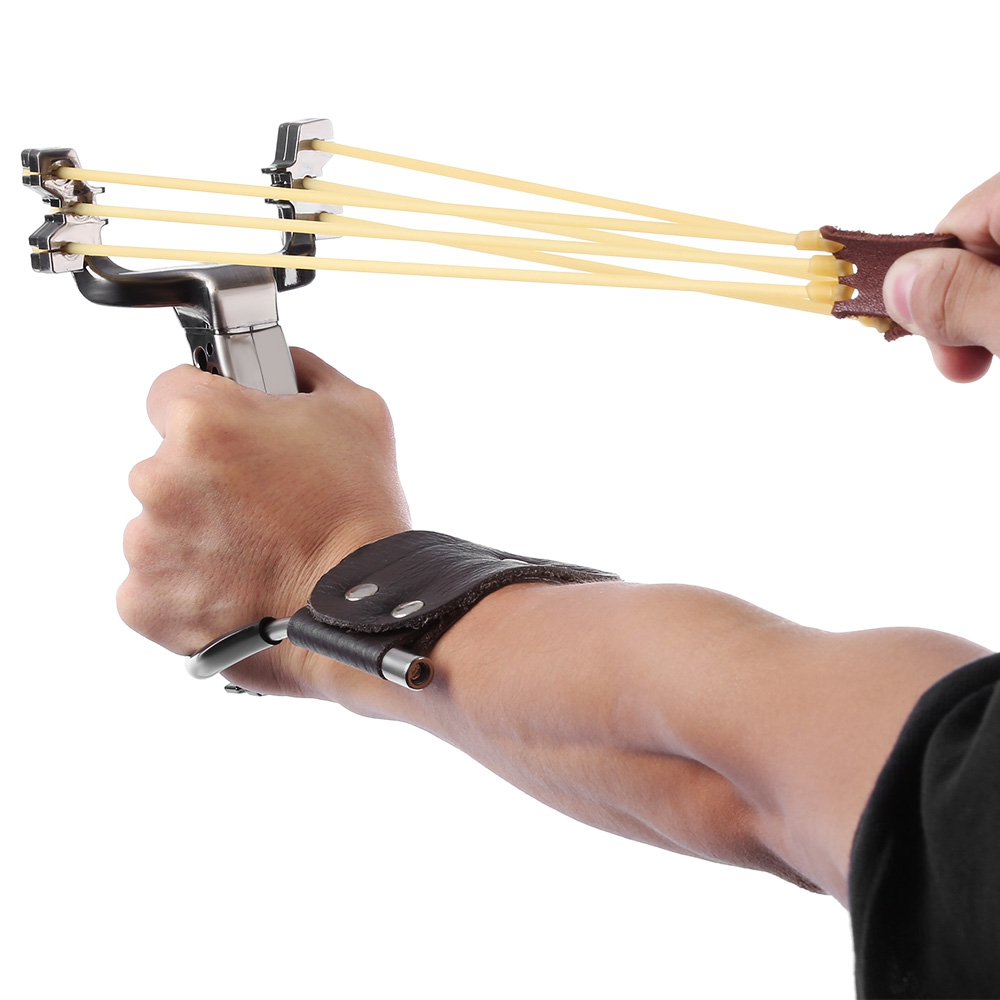 Free Shipping Stainless Steel Powerful Slingshot Catapult Outdoor Hunting Equipment Hunter Sling shot fronde puissant chasse catapult slingshot outdoor powerful sling shot 304 stainless steel wood slingshot outdoor hunting bow