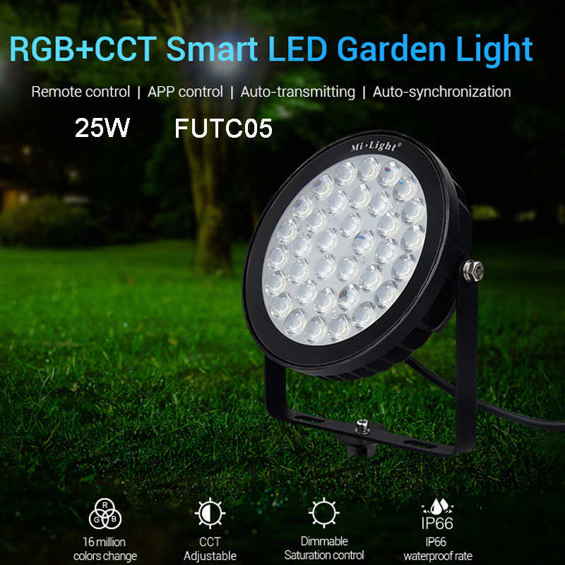 New 25W RGB+CCT led Lawn Light FUTC05 IP66 Waterproof Smart LED Garden Lamp Copatible with FUT089 B8 FUT 092 Remote MiBOXERNew 25W RGB+CCT led Lawn Light FUTC05 IP66 Waterproof Smart LED Garden Lamp Copatible with FUT089 B8 FUT 092 Remote MiBOXER