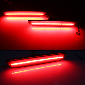 Image 4 - IJDM מעושן עדשה אדום LED אחורי צד סמן אורות עבור 2010 2017 פורד מוסטנג, מעושן Sidemarkers מופעל על ידי 45 SMD LED אורות 12V