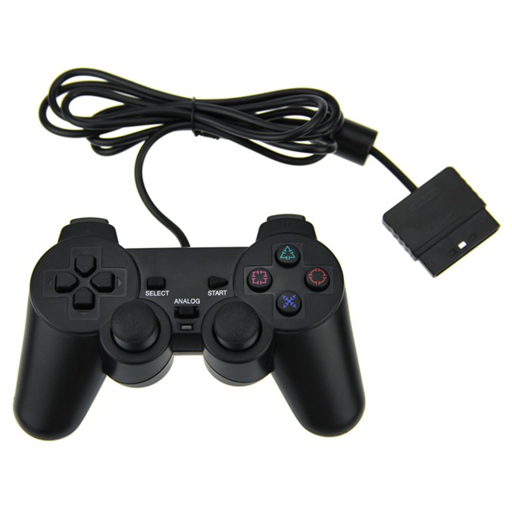 NEW Original Black Wired Dual Vibration Controller Gamepad For Sony Pl