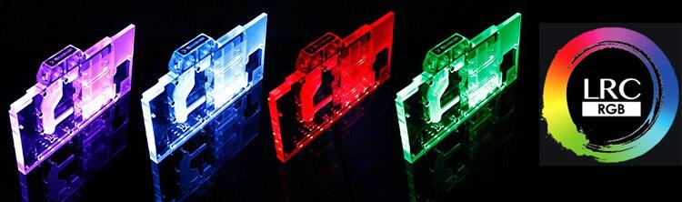 Купить с кэшбэком BARROW Full Cover Graphics Card Block use for MSI GTX1080Ti LIGHTNING X / LIGHTNING Z GPU Radiator Block RGB TO AURA 4PIN