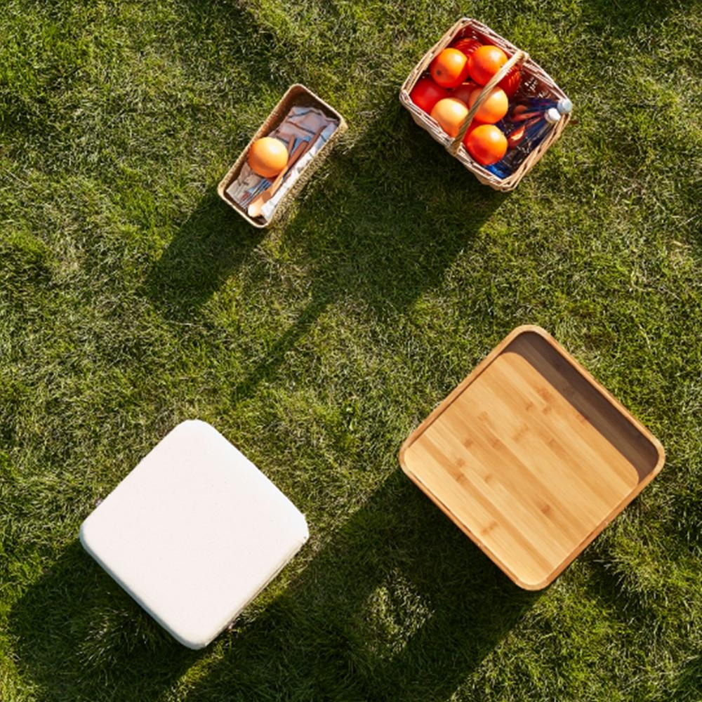 Bambuspall Muti Funktion Tebord med 4 kudde soffbord Tatami - Möbel - Foto 5