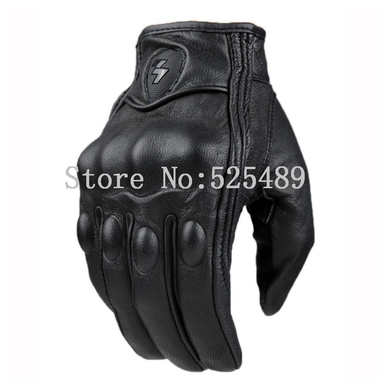2016 Brand luva moto guantes Real Leather Full Finger motorcycle Gloves motocross Racing Protective Gloves Outdoor