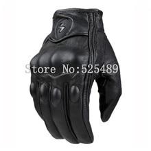 2016 Brand moto luva guantes Натуральная Кожа Полный Палец Перчатки мотоцикла мотокроссу Защитные Перчатки Открытый Езды Перчатки