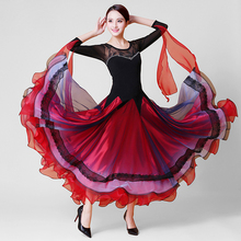 Ballroom Competition Dance Dress Women High Quality Stage Multicolor Tango Flamenco Waltz Dancing Skirt