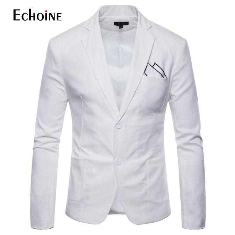 Image 3 - Fashion Cotton linen summer men comfort blazer Mens 2019 New Slim Fit Jacket Suits Blazers Men Quality Casual suit plus size 4XL-in Blazers from Men's Clothing