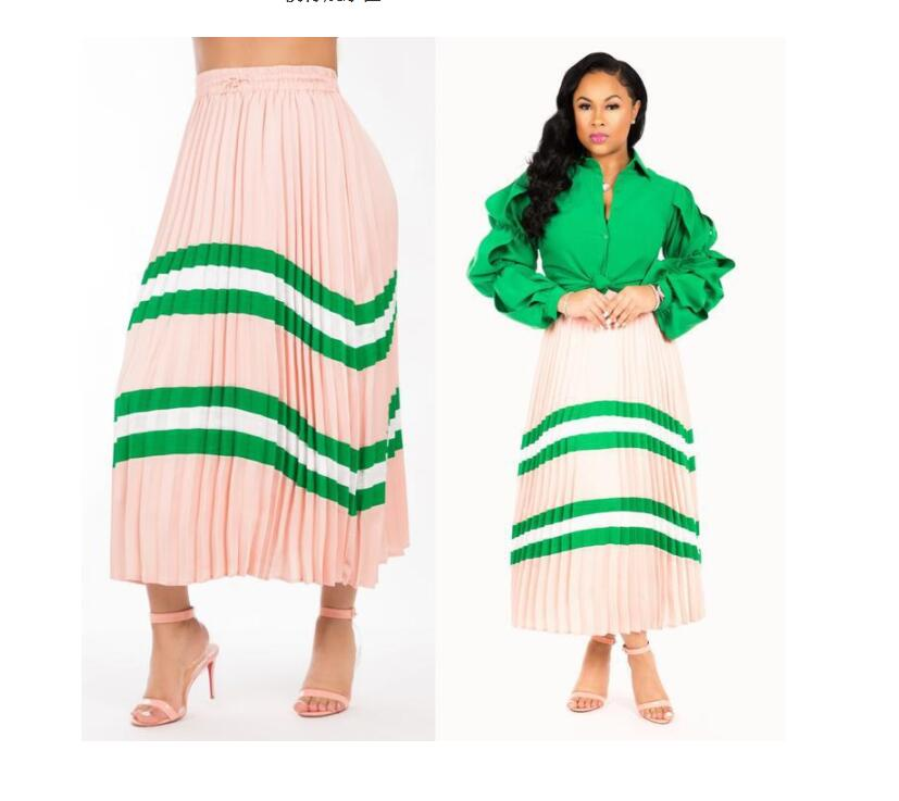 Active Yooneedi 2019 Summer New Arrival Sweet Women Skirts Color Solid Ladies Pleated Maxi Skirts Lsd-8313 Elegant Appearance