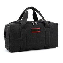Холщовая дорожная сумка, сумка на выходные, Большая вместительная сумка на плечо, Мужская водонепроницаемая сумка-мессенджер, женская сумка для путешествий