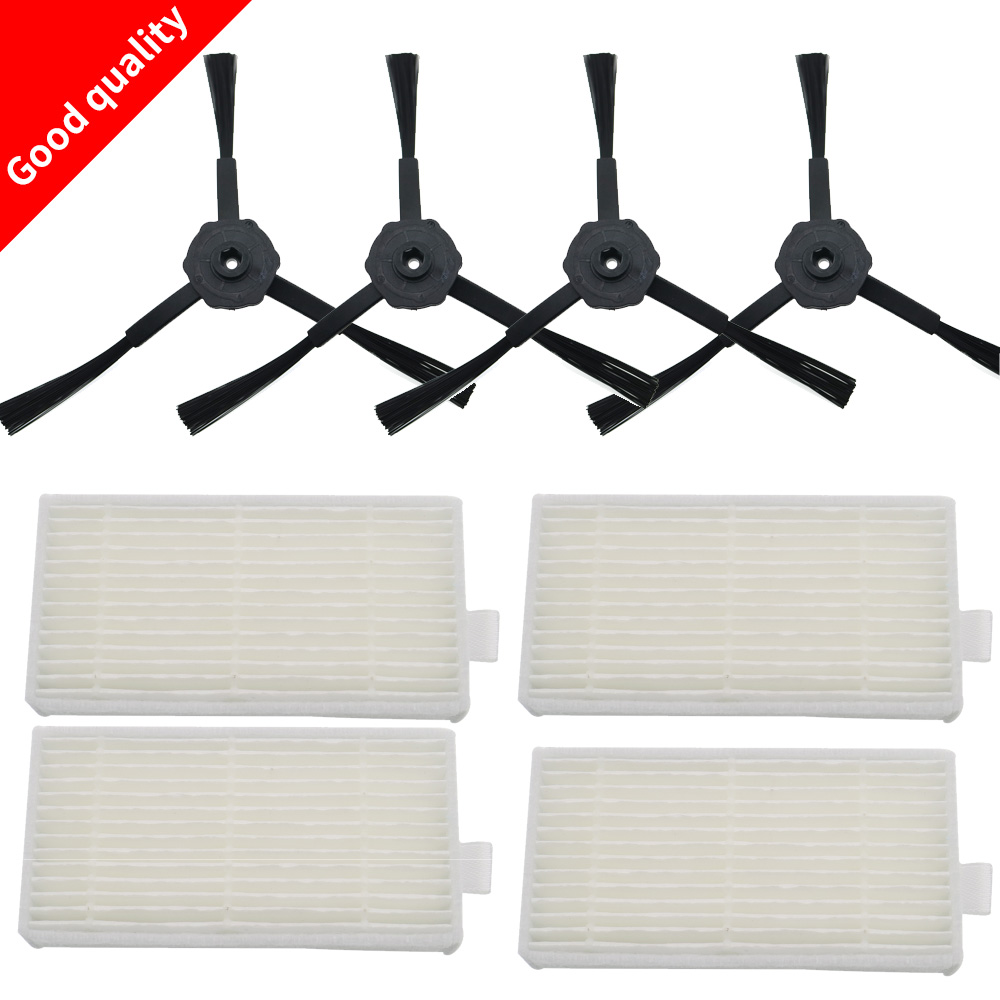 Side Brush  HEPA Filter Kit For CHUWI Ilife V5s V5 X5 Ilife V3s V3s Pro V3l V5s Pro V50 Robot Vacuum Cleaner Panda X500