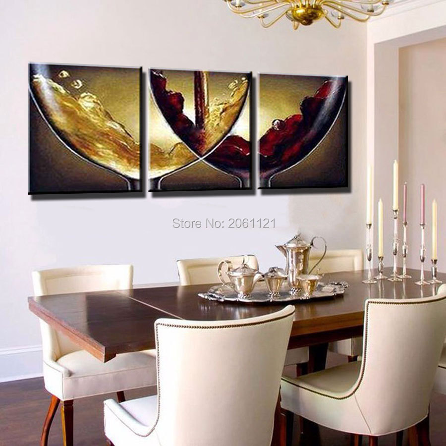 Hand Paint Ideas Kitchen Decorative Oil Paintings On Canvas Wine And Champagne Wineglass Canvas Picture Wall Decoration Art Paintings Flowers Famous Artists Decor Oil Paintingdecorative Painting On Walls Aliexpress