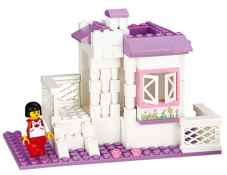 Small particles building blocks toy wholesale pink dream for Dream home season 6