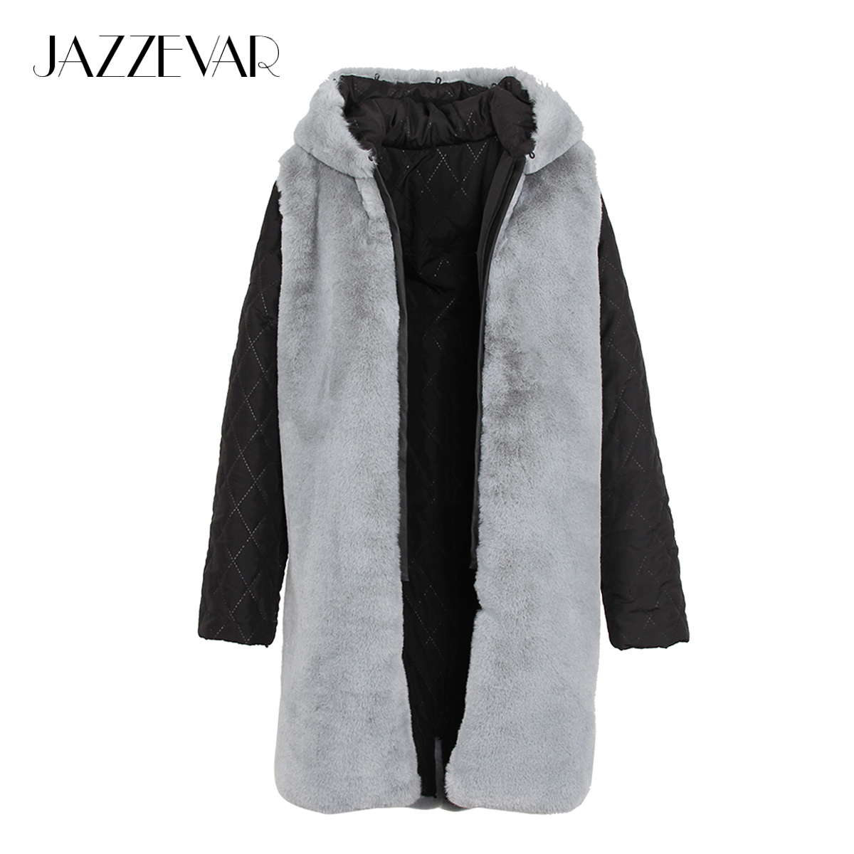JAZZEVAR 2019 New Fashion High Quality Women s Outer hooded Faux Fur Liner
