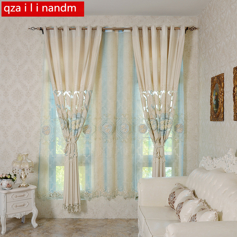European Luxury Beige Curtain Kitchen 3d Curtains For Bedroom Multicolored Nice Curtain For Living Room Curtain Fabrics