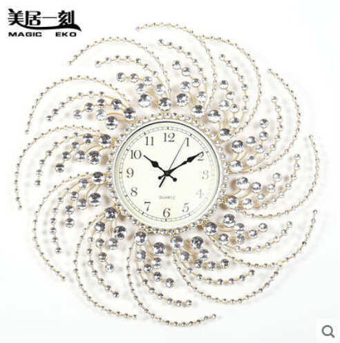 Home Decor Wall Clocks Modern Design Quartz Charming Metal large
