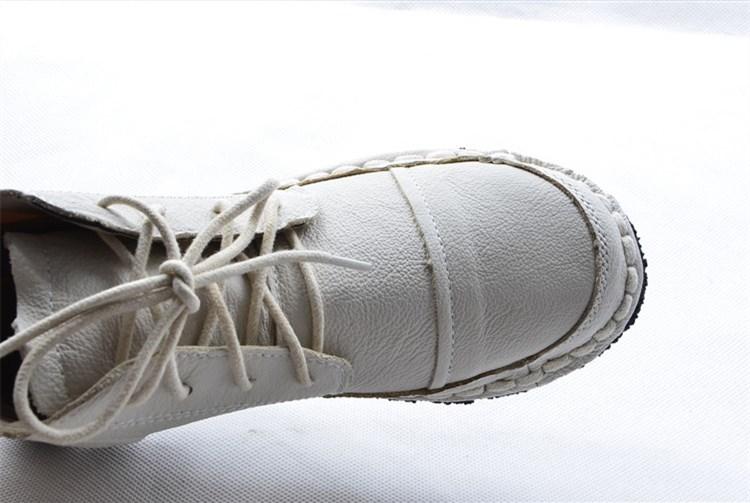 Main white La En Art nouveau BottinesLe Mori Chaussures Brown Courtes3 Huifengazurrcs Pour Pur Couleurs 2017 green Rétro FillesDécontracté Bottines À Cuir 8OXNZwPkn0