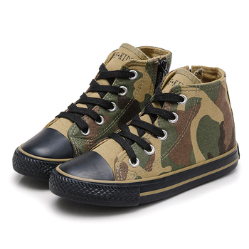 Children Shoes 2020 New Fashion Girls Canvas Shoes Casual Camouflage Sports Kids Sneakers for Boys Breathable Denim Zipper Boots 2020 slip on canvas children shoes sports breathable boys sneakers kids shoes for girls casual child flat canvas shoes d02291