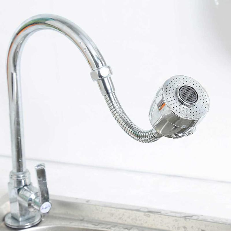 360 Rotating Splash Faucet Saving Tap Aerator Water Bubbler Swivel Head Tap Diffuser Nozzle / Connector / Tape 2