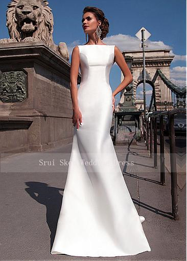 Charming-Satin-Bateau-Neckline-Mermaid-Wedding-Dresses-With-Detachable-Train-Custom-Made-Bridal-Gowns-Cheap (1)