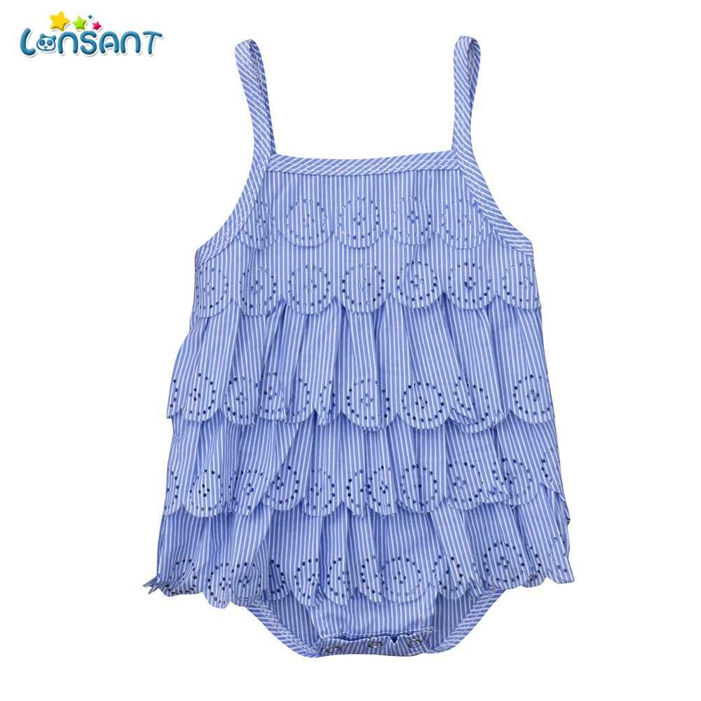 eceacf542bf24 Detail Feedback Questions about LONSANT 2018 New Arrival Baby Fashion Infant  Girls Blue Sleeveless Vest Lace Pierced Sun Top Romper Jumpsuit Clothes on  ...