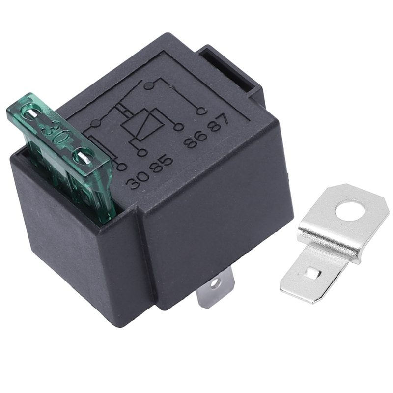 Fused On Off Automotive Fused Relay 12V 30A 4 Pin Normally Open Car Bike black in Relays from Home Improvement