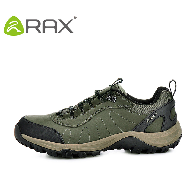 Rax Surface Waterproof Genuine Leather casual Shoes Men Outdoor Breathable Mountaineering Walking Trekking Shoes 43-5C307