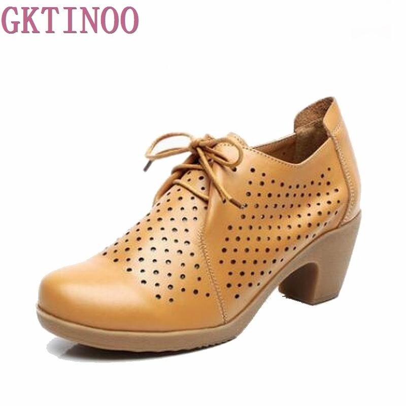 Large size 33-42 women shoes fashion retro lace-up high heels shoes round toe single solid spring women pumps HY14B