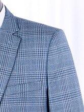 100% Virgin Wool Men Suits Custom Made Luxury Fashion Plaid Business For Men,Tailor Slim Fit Costume Sur Mesure 2019