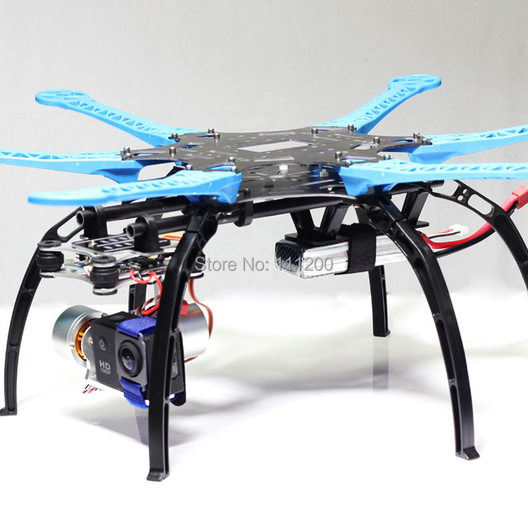 S550 F550 Quadcopter Multirotor Hexacopter Frame Kit With Landing Gear for FPV Gopro 2 Gimbal PTZ