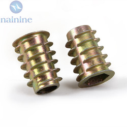 50pcs m4 m5 m6 8 10 zinc alloy thread for wood insert nut flanged hex drive.jpg 250x250
