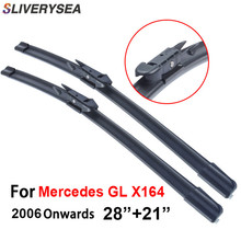 SLIVERYSEA Windscreen Wipers For Mercedes GL X164 2006-2016 28+21 Car Accessories for Auto Windshield Wiper Blade CPB112-2