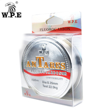 W.P.E Brand New ANTEROS Fishing Line 0.20mm-0.60mm Fluorocarbon 100m 10KG-41KG Carbon Fiber for Carp