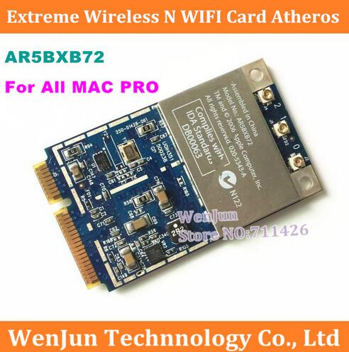 1PCS Free Shipping 2.4G 5.8G Original For All Mac Pro Atheros Airport Extreme Wireless WIFI Card Mini PCIE AR5BXB72 MA970