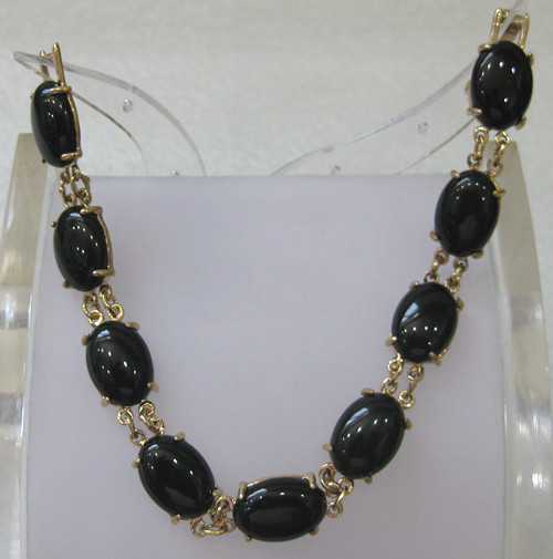 fast shipping Fine Jewelry 10X14MM Beads Black agate Bracelet