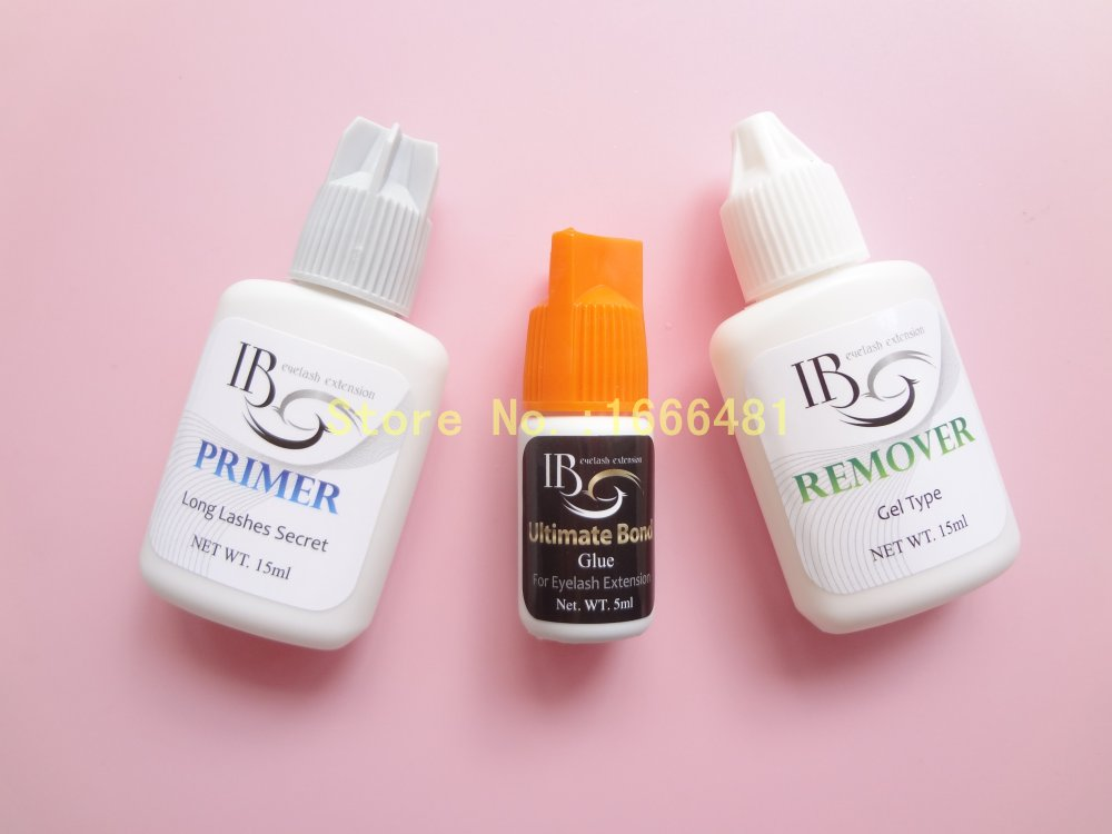 1 set Eyelash Extensions Kit Primer Orange Cap Glue Remover for Eyelash Extensions Free Shipping brandization through brand extensions