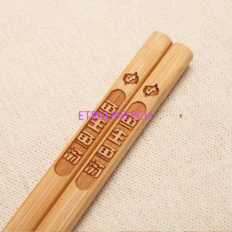 200 paia/lotto Cinese Bacchette Di Bambù Di Bambù In Stile Giapponese Regalo Per La Tavola Libero Su Misura Incisione logo-in Bacchette da Casa e giardino su  Gruppo 3