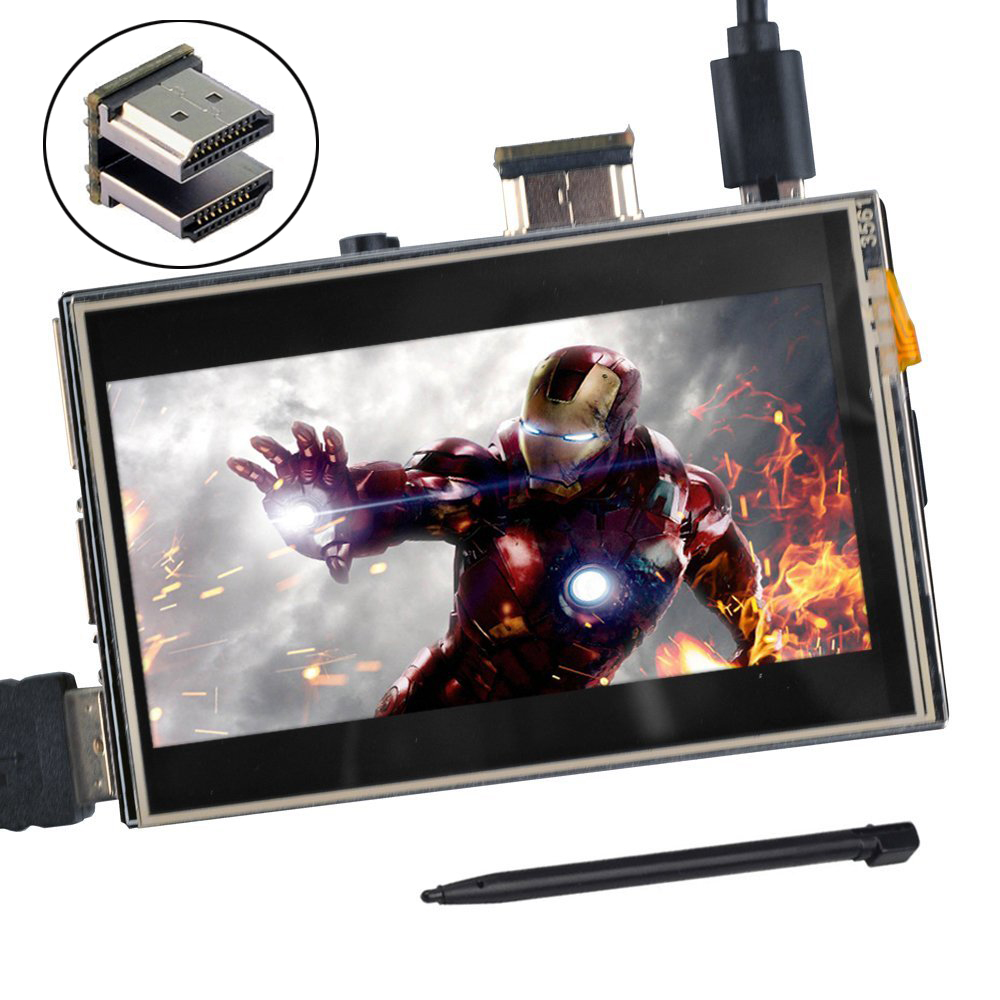 with Case Stand UNIROI Raspberry Pi Touch Screen with Case A BB Black PC Various Systems 7 Inch TFT LCD Display HDMI Module 1024x600 for Raspberry Pi 3 2 Model B and RPI 1 B