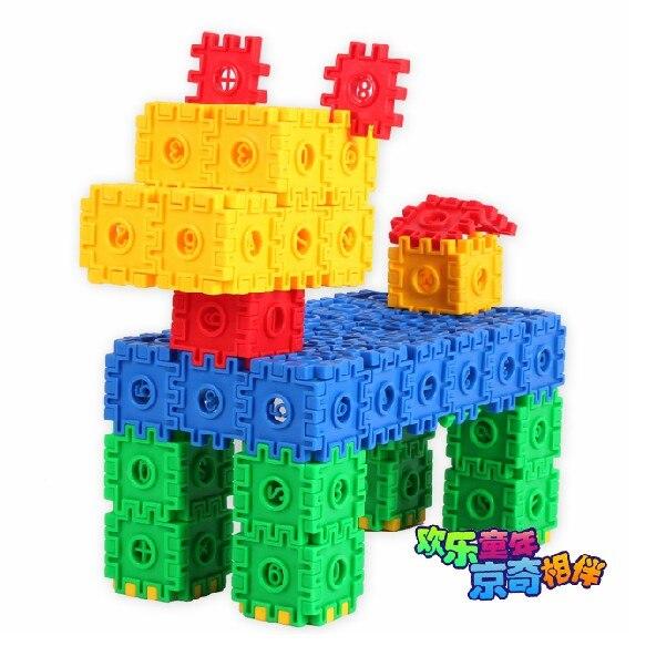 jingqi פלסטיק צורה דיגיטלית מספר תינוק מתנת יום הולדת צעצוע diy חינוכי אבן בניין 1 שק משלוח חינם
