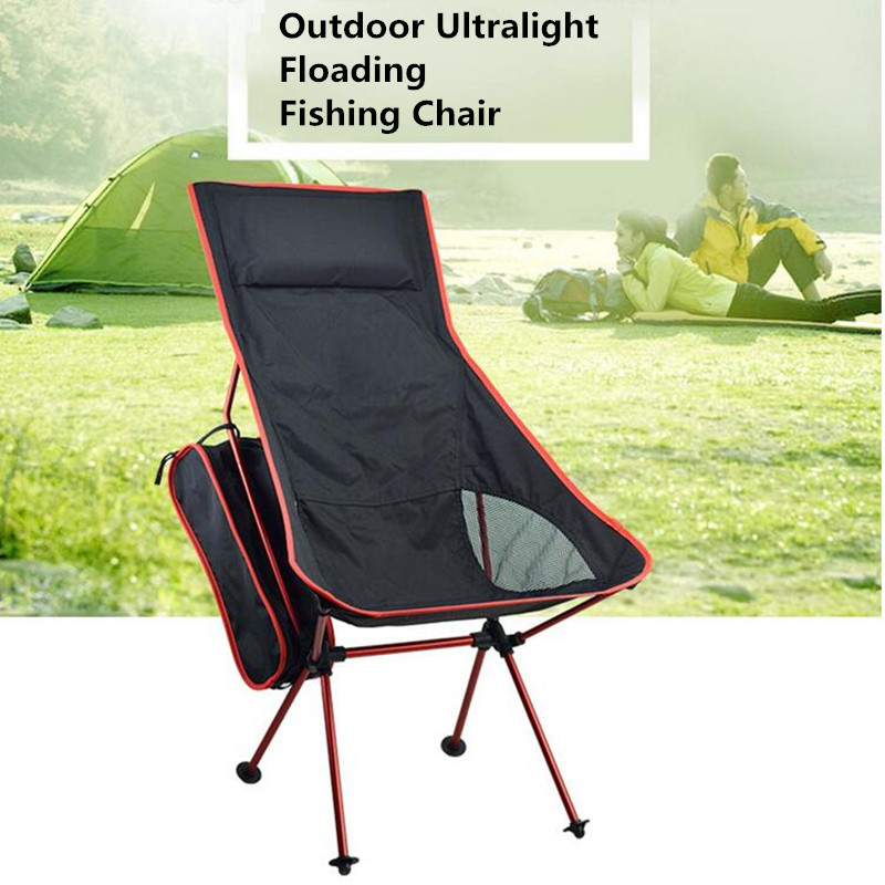 Lightweight Folding Chair Camping Portable Fishing Seat High Outdoor