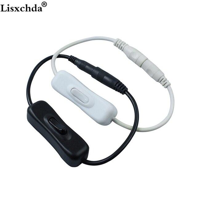 Offre spéciale 2.1x5.5mm pour DC en ligne câble d'alimentation connecteur Jack fil avec interrupteur marche-arrêt pour LED bande lumineuse 12 V 2A