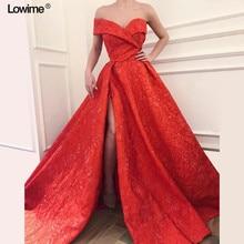 Lowime A-line Evening Dresses Floor Length Prom Dress