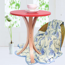 Cafe Tables Cafe Furniture solid wood round table coffee table assembly desk minimalist modern 45*45*54.5cm(China)