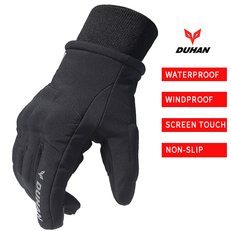 Duhan Motorrad Wasserdichte Winproof Handschuhe Racing Touchscreen Guantes Moto Warme Männer Frauen Winter Motocicleta Luvas de Gants