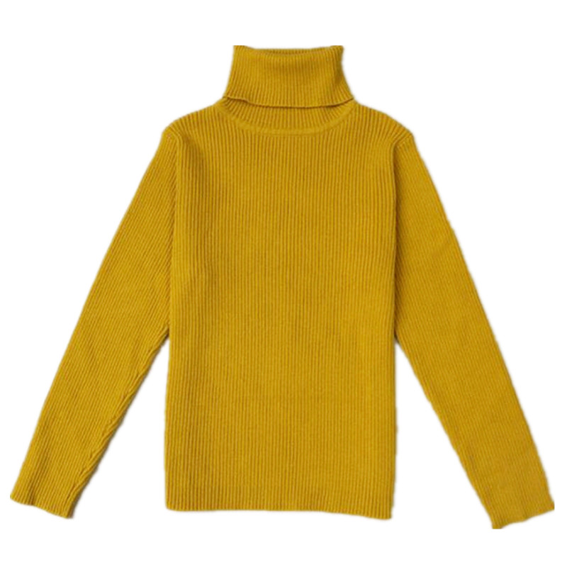 Funfeliz 100% Cotton Children Sweater Full Sleeve Turtleneck Sweater for Boy 2018 Winter Baby Girl Cardigan Kids Pullover 12M-6Y