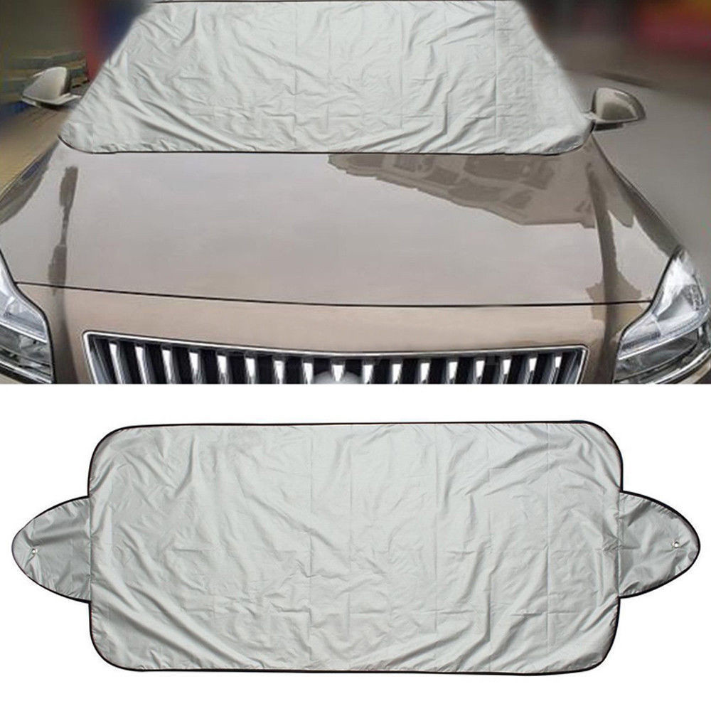 New Car Windshield Sunshade Auto Windshield Protector Anti Frost Snow Ice Windscreen Cover For BMW Lada Toyota Black White