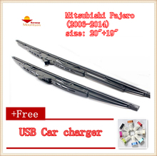 2pcs/lot Car Windscreen Wipers Blades U-type Universal For Mitsubishi Pajero (2006-2014),size: 20″+19″