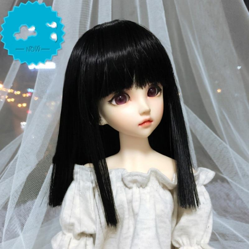 1/3 1/4 BJD doll wig giant baby black straight hair 1pcs 25cm 100cm straight wig hair black brown khaki coffee color refires bjd dit wig hair for 1 3 1 4 dolls hair ep018
