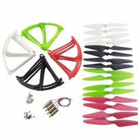 RC 16PCS propeller+ 16PCS protector ring + 4PCS motor for Hubsan X4 H502S H502E H502T H507A H216A Airplane