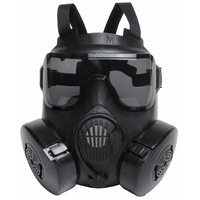 DC15 Tactical Airsoft Paintball Skull Protective Full Face M50 Gas Mask With Fan Black Military CS Wargame Cosplay