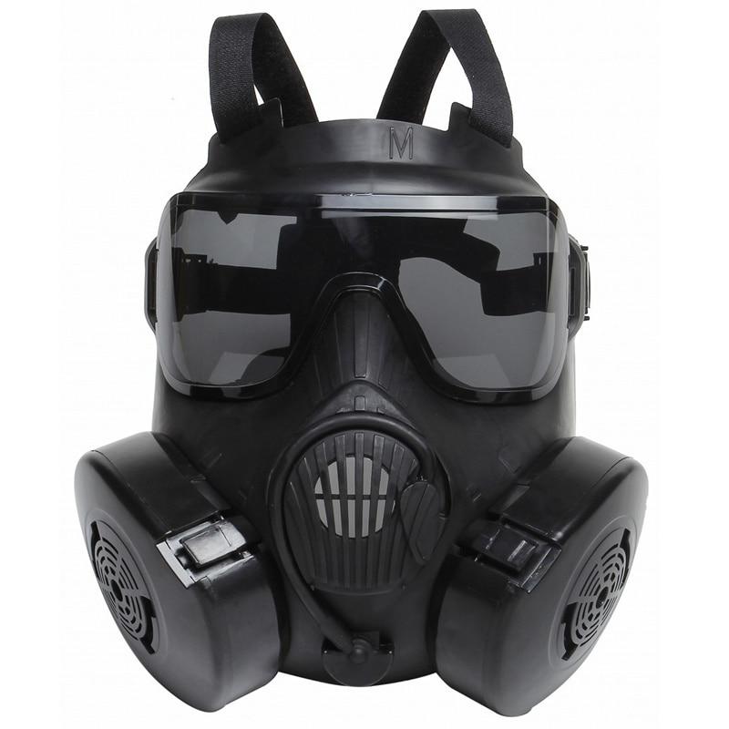 DC15 Tactique Airsoft Paintball Crâne De Protection Intégral M50 Masque À Gaz Avec Ventilateur Noir Militaire CS Wargame Cosplay